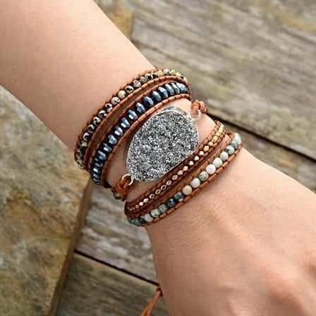 The Chrome Queen Wrap Bracelet