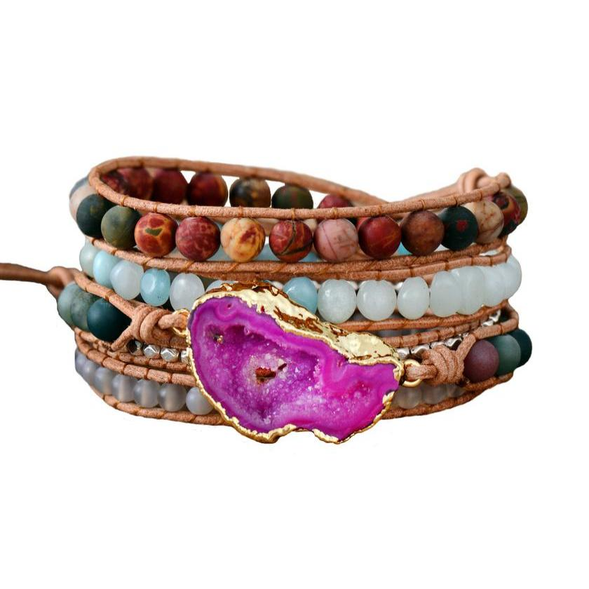 Magical Pink Passion Wrap Bracelet
