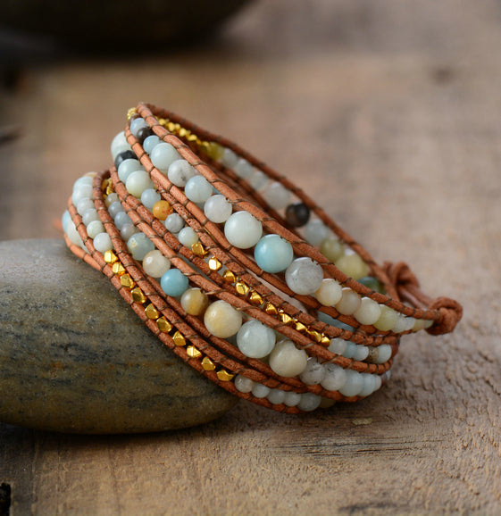 Exclusive Amazonite Wrap Bracelet