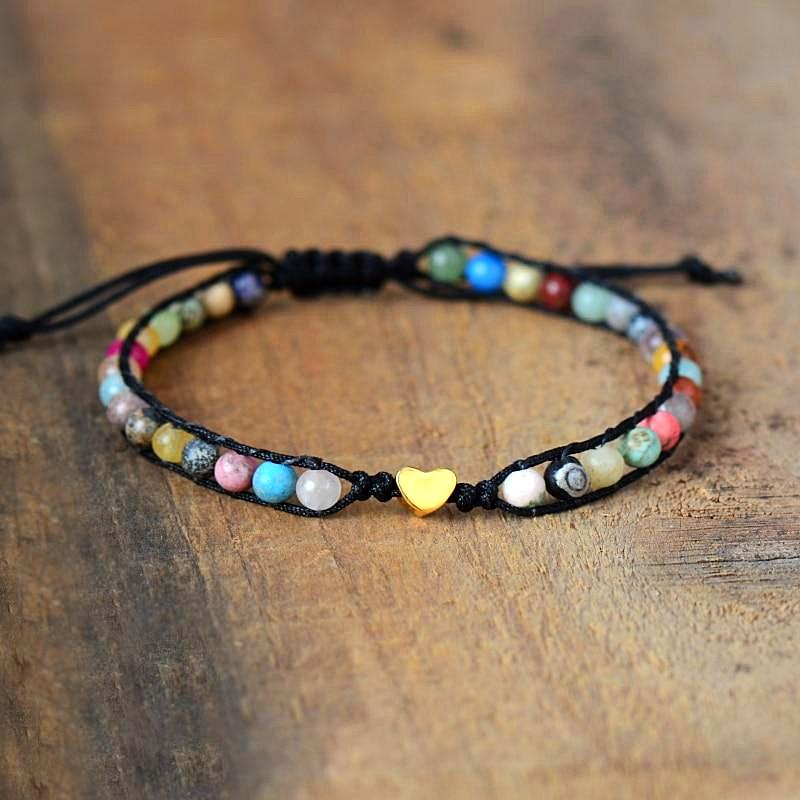 Heart of Gold Mixed-Stone Bracelet
