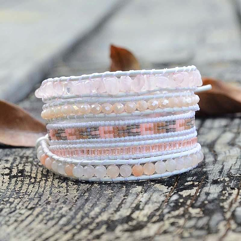 Soft Yet Strong Rose Quartz Bracelet