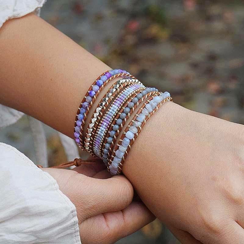 Purple Dream 5 Layer Wrap Bracelet