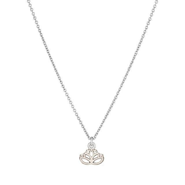 Lotus Flower Necklace - Gold or Silver