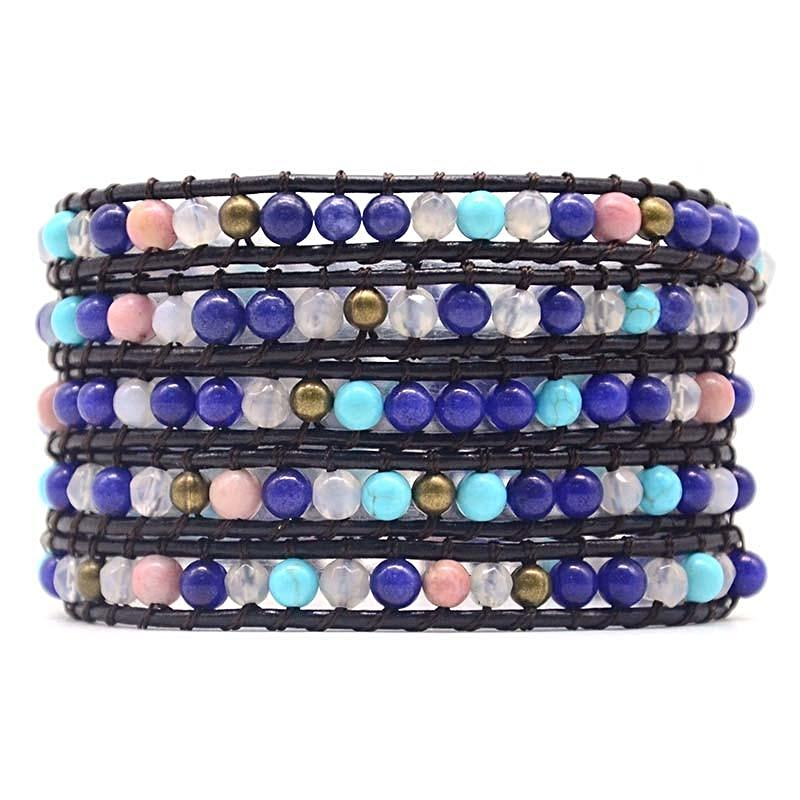 Cool Denim 5 Layer Wrap Bracelet