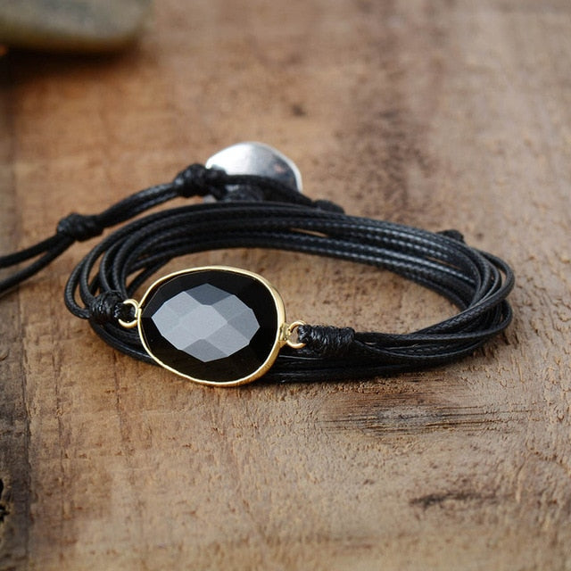 Inner Strength Onyx Wrap Bracelet