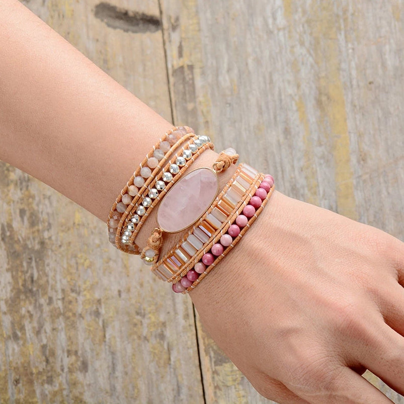 Summer Love Rose Quartz Bracelet