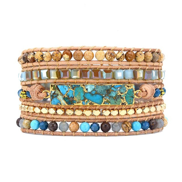 Seas The Day Turquoise Wrap Bracelet