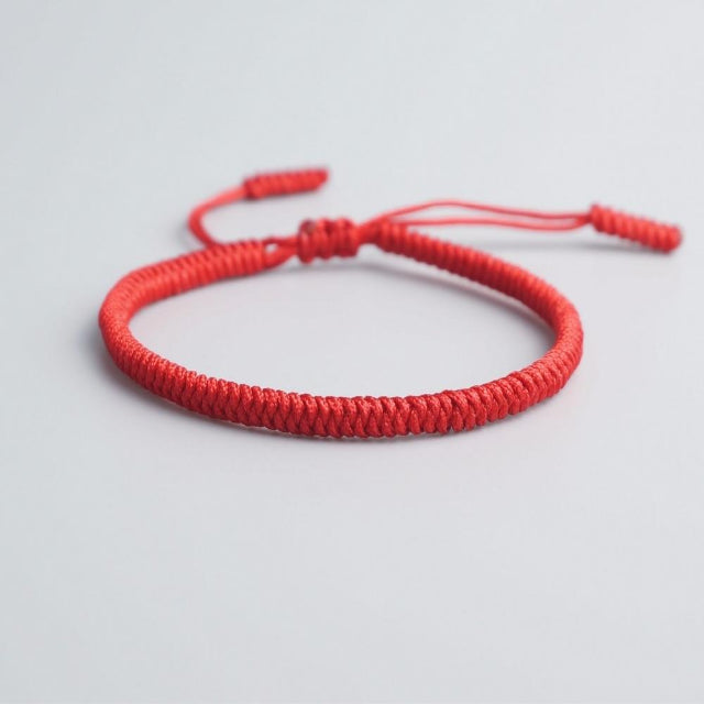 Red Tibetan Good Luck Rope Bracelet