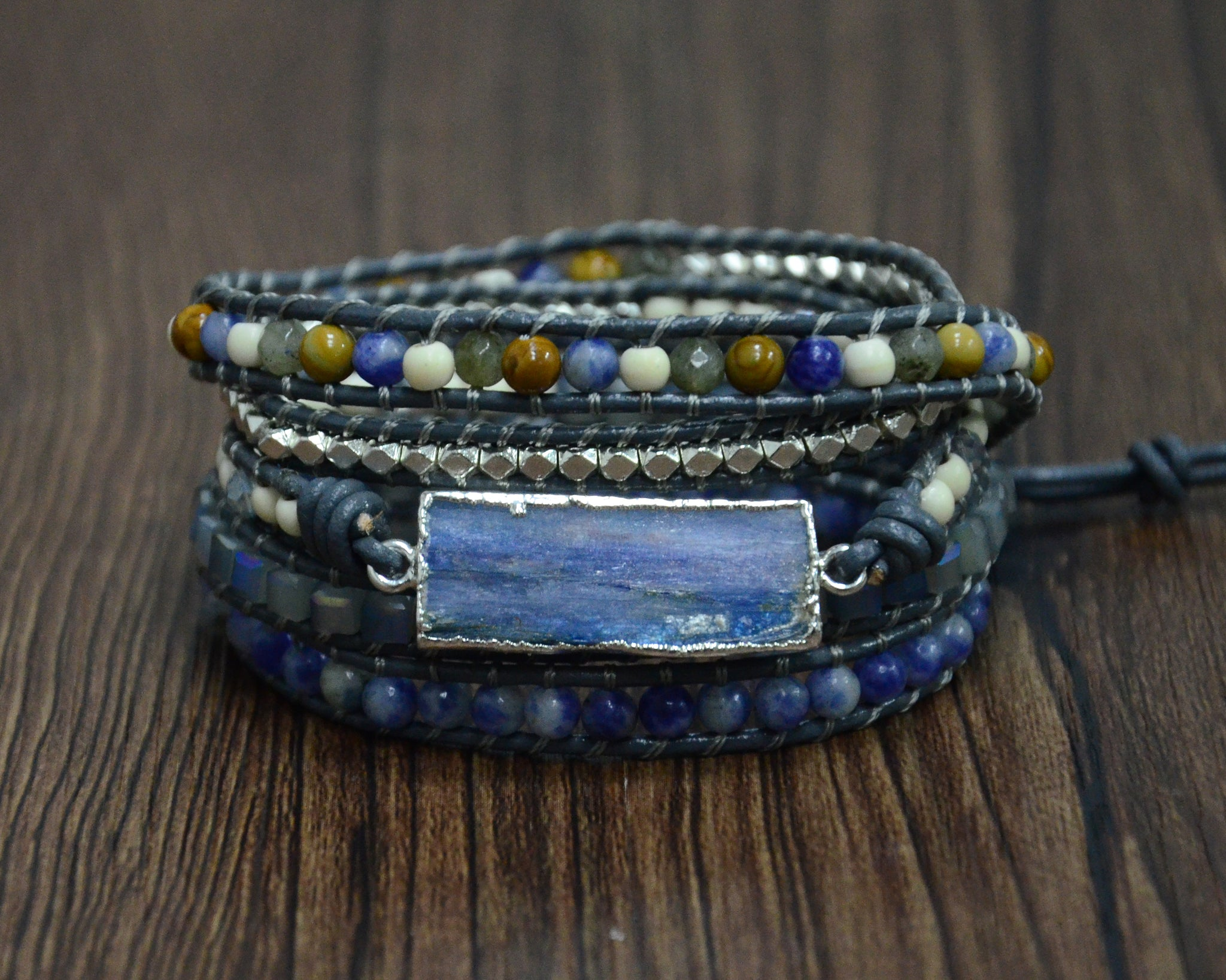 Awakened Mind's Eye Blue Topaz Bracelet