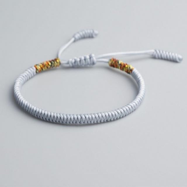 White Tibetan Good Luck Rope Bracelet