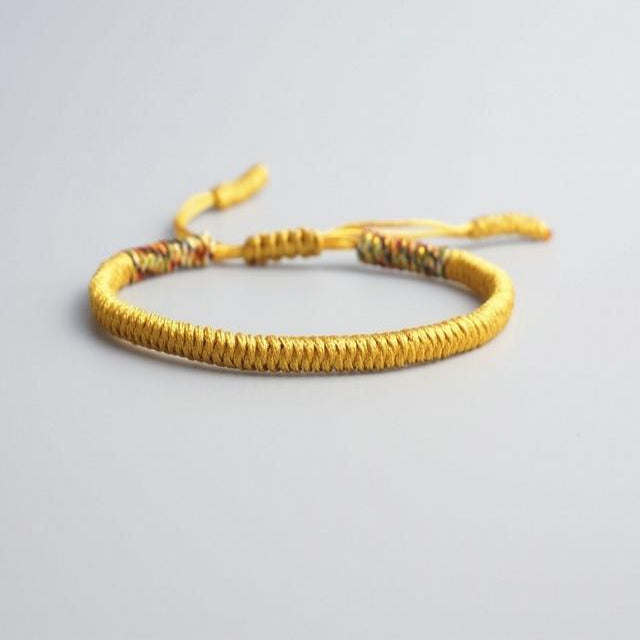 Yellow Tibetan Good Luck Rope Bracelet