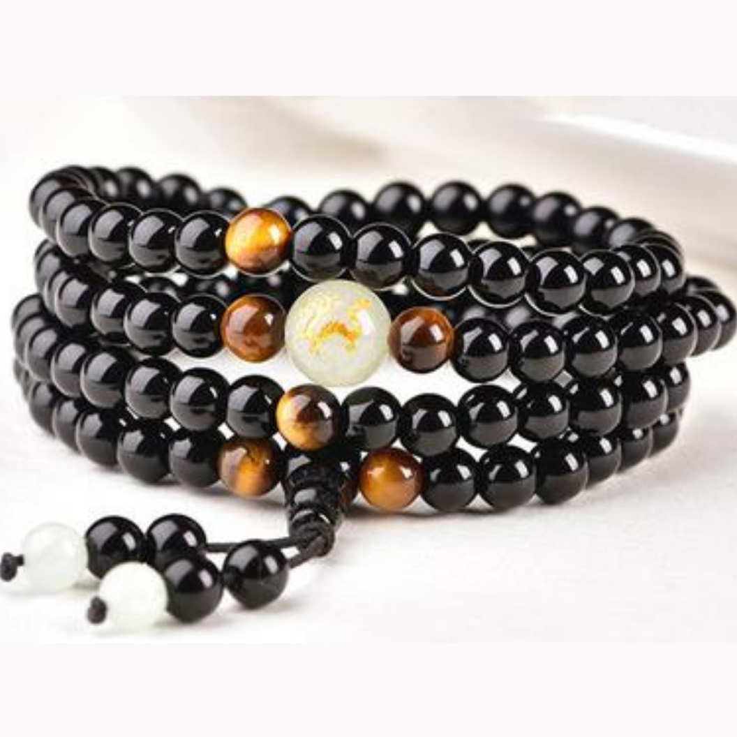 Luminous Zodiac Animal Obsidian Bracelet