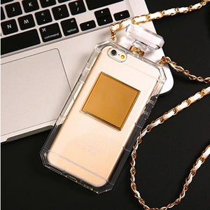 Case For Samsung Galaxy Note 4 Note 5 E5 E7 Luxury Perfume Bottle TPU Soft Phone Case Handbag With Chain Phone Back Cover Fundas