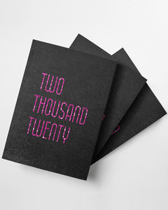 Two Thousand Twenty Softcover Glitter Journal