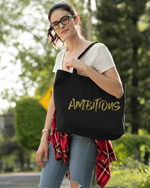 Ambition is Golden Large Zip Tote Bag