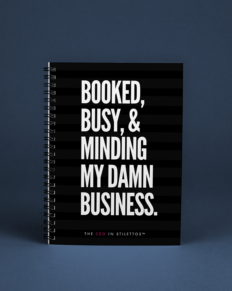 Booked Busy and Minding My Business Notebook