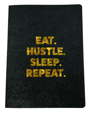 Eat Hustle Sleep Repeat Softcover Glitter Journal