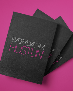 Everyday I'm Hustlin' Softcover Glitter Journal