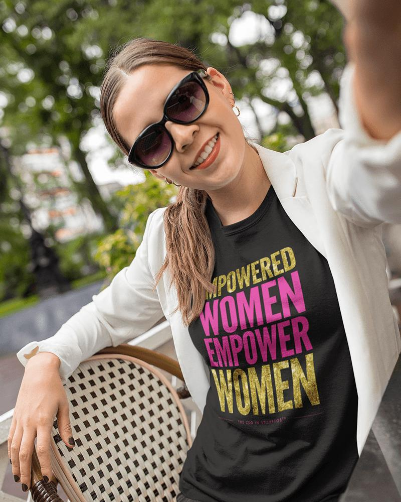 Empowered Women Empower Women Glitter T-Shirt