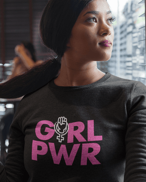 Girl Power Glitter Sweatshirt