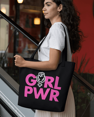 Girl Power Large Zip Tote Bag