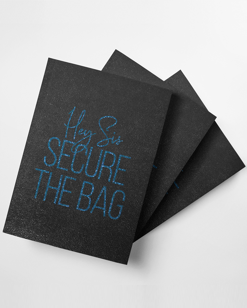 Hey Sis, Secure the Bag Softcover Journal