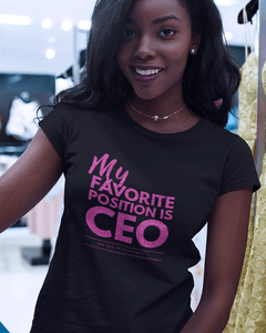 My Favorite Position is CEO Glitter Tee