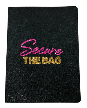 Secure the Bag Softcover Glitter Journal