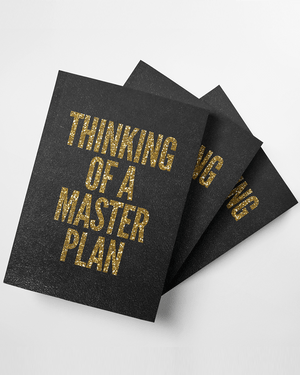 Thinking of a Master Plan Softcover Journal