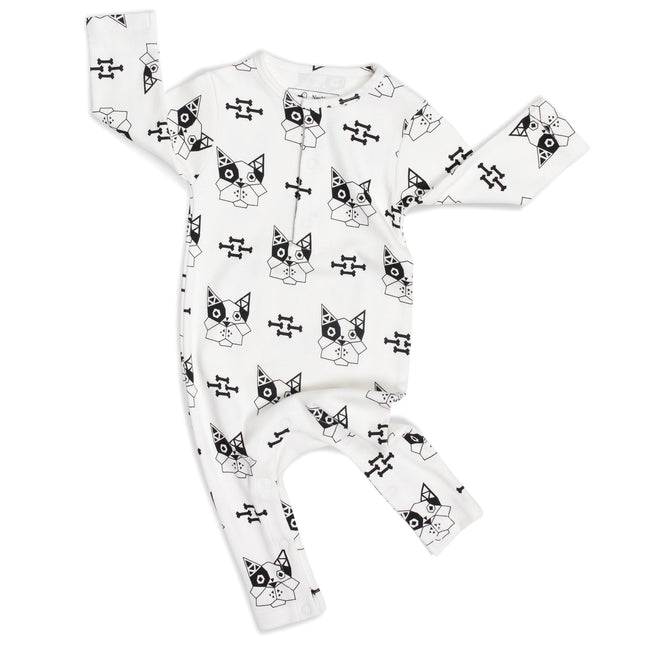 Long Sleeve Bulldog Romper