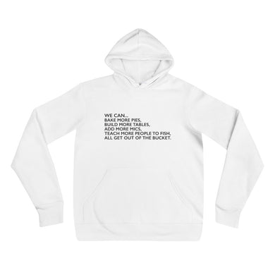 We Can... White Pullover Hoodie