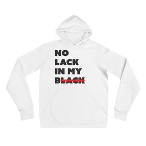 No Lack White Pullover Hoodie