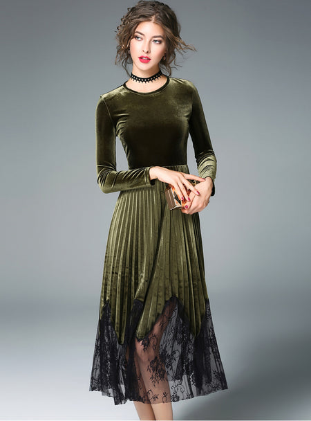 Black Cake Maxi Dress With See Through Detail