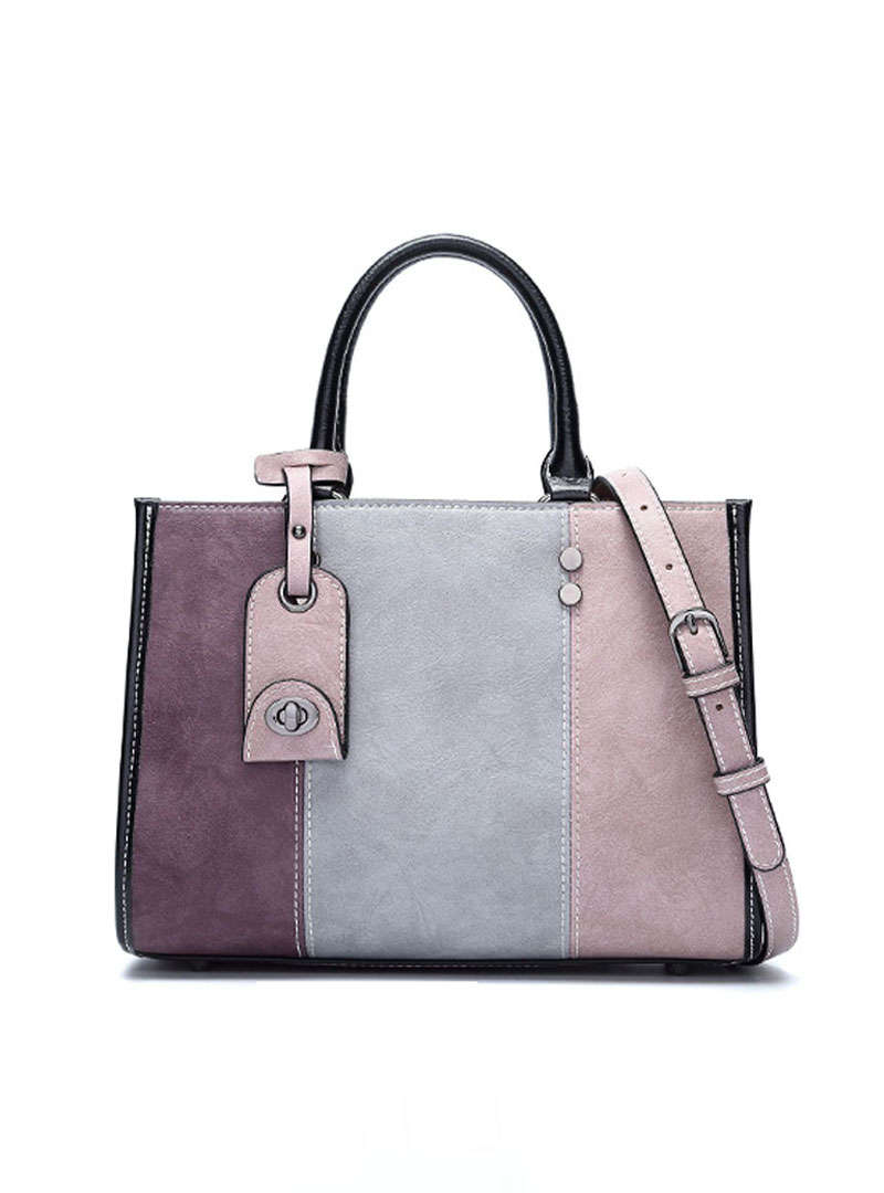 Matching Color PU Tote Bag