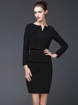 Black Two Piece Bodycon Dress