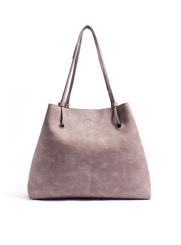 Pink Artificial Leather Shoulder Bag