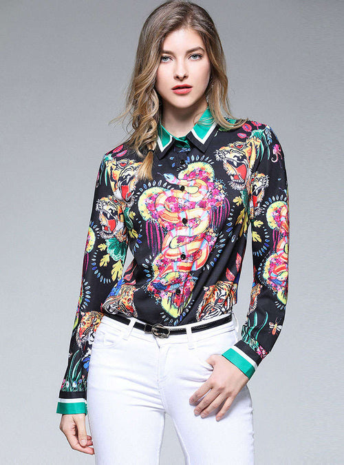 Multi-Color Animal Printed Blouse