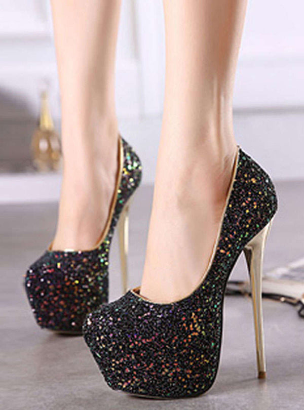 Multi-Color Sequin Stiletto Heels