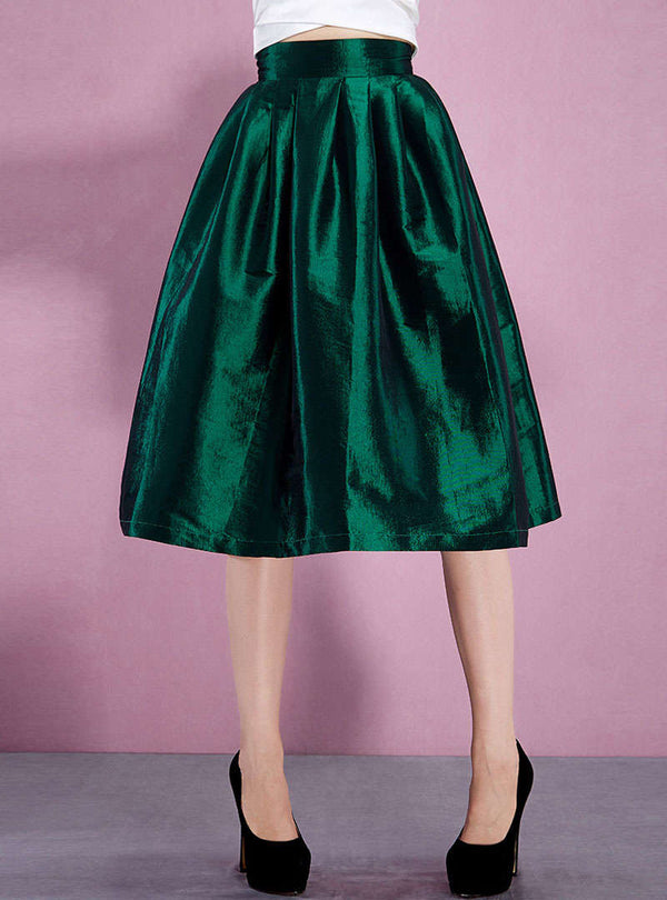 Green Loose Elegant Parachute Skirt
