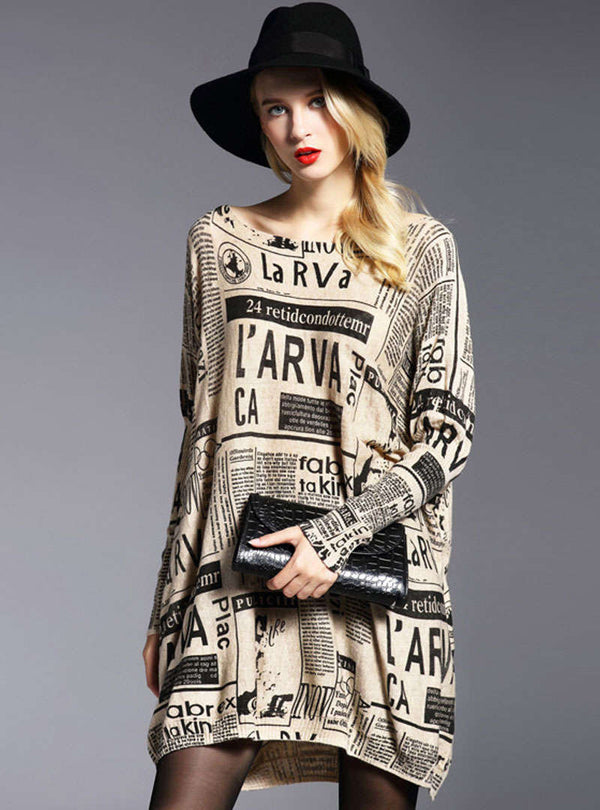 Printed Loose Wool Casual Knitted Sweater