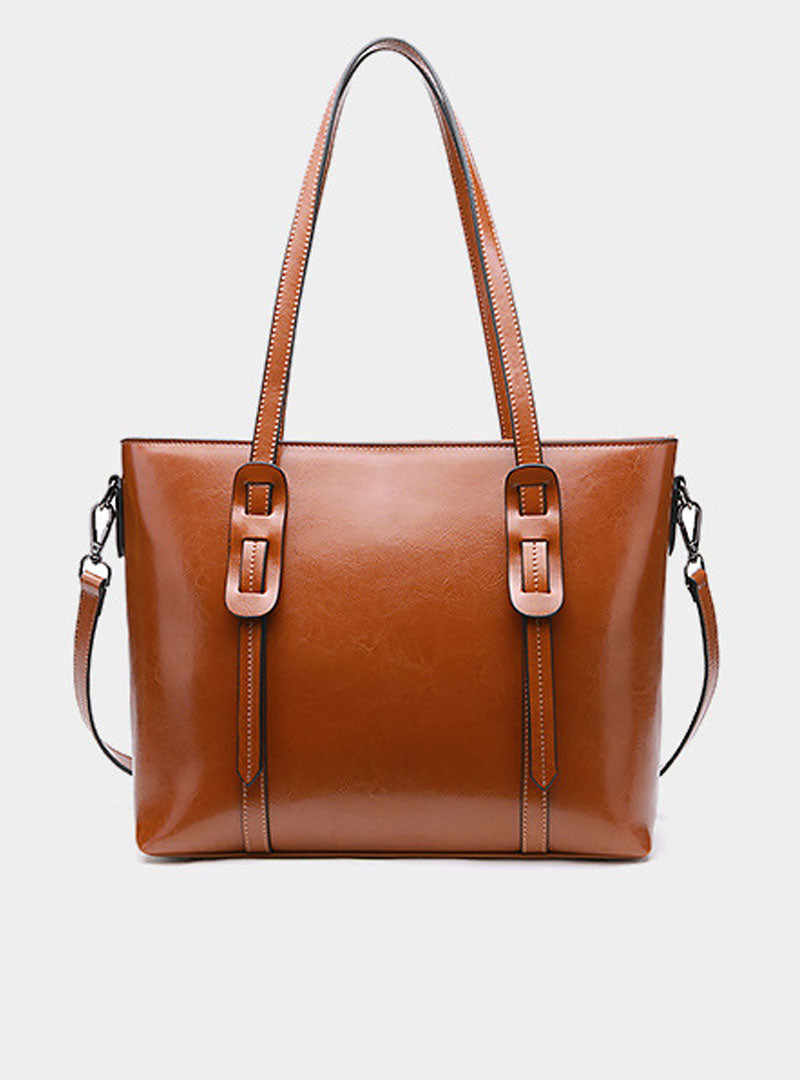 Brown Genuine Leather Tote Bag