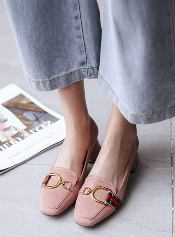 Velvet Shallow Mouth Casual Low Heels