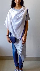 ASYMMETRIC TOP WITH PONCHO