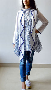 SILK SHIRT WITH ATTACHED SCARVES