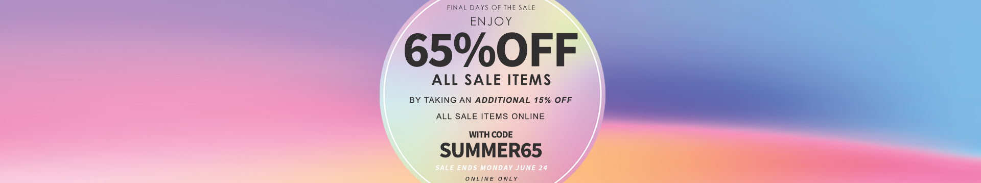 Sale's on SALE | 65% OFF with code SUMMER65