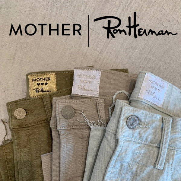 Mother x Ron Herman Exclusive Hustler Ankle Fray Pant