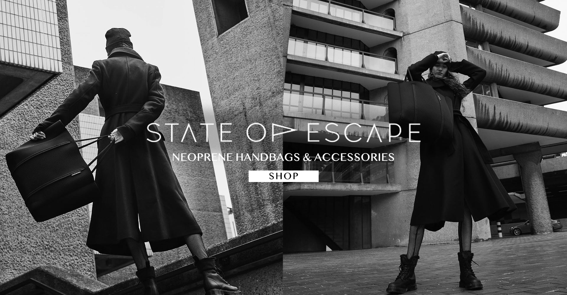 State of Escape Neoprene Handbags & Accessories All New Collection Shop STATE OF ESCAPE Neoprene Handbags & Accessories