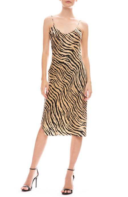 Tiger Print Short Cami Dress