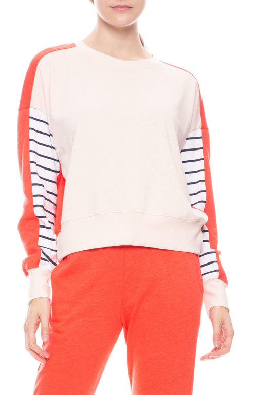 Stripe Colorblock Sweatshirt