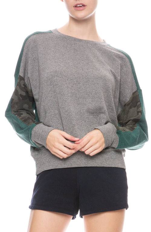 Camo Colorblock Sweatshirt